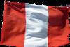Die Flagge Perus. Sie besteht aus drei vertikalen Balken in der Reihenfolge rot - weiß -rot.