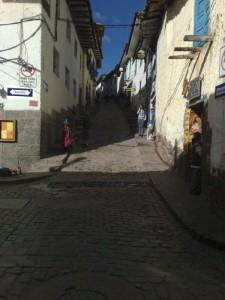 Eine kleine Gasse in Cusco