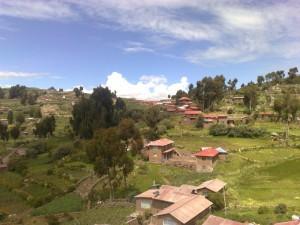 Blick über die Insel Taquile