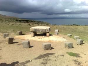Opfertisch der Inka aus einer Steinplatte